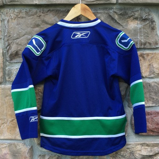 Blank Vancouver Canucks blue jersey