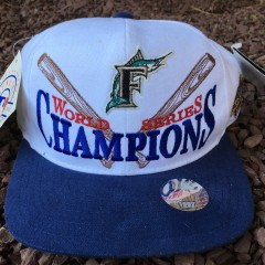 Vintage 1997 Florida Marlins World Series Champions Starter Snapback hat
