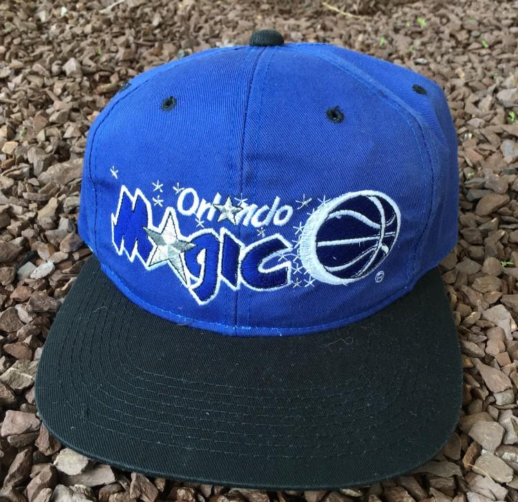90 s Orlando Magic Sports Specialties Plain Logo NBA Snapback Hat ... 0814f64fa