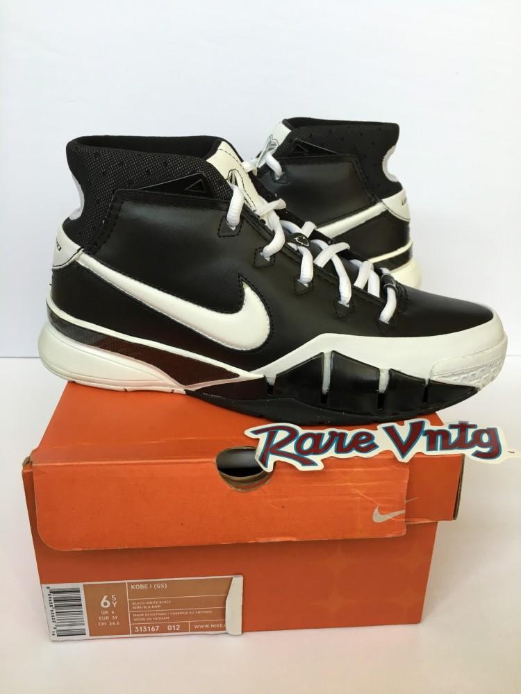 8ac4be2640c6 OG Nike Zoom Kobe 1 Sneakers Black White Sharpshooter Size 6.5 Pair ...
