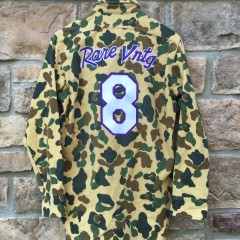 Rare Vntg Custom Camo Kobe Bryant Mamba Moments button up shirt