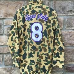 Rare Vntg Custom Camo Kobe Bryant Mamba Moments button up shirt