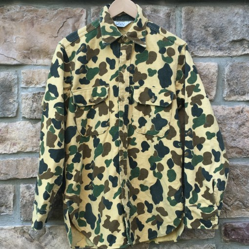 Vintage Camo Woolrich button up