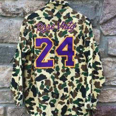 #24 Kobe Bryant Custom Mamba Moments Rare Vntg Camo Shirt
