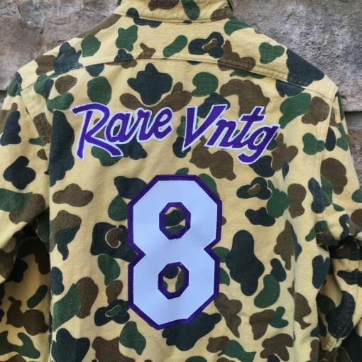 Vintage #8 Kobe Bryant Mamba moments camo button up shirt