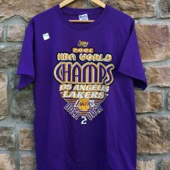 2001 Los Angeles Lakers Back to back nba champions t shirt size large