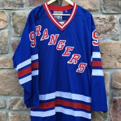 Vintage Starter Authentic New York Rangers NHL hockey jersey wayne gretzky size 46