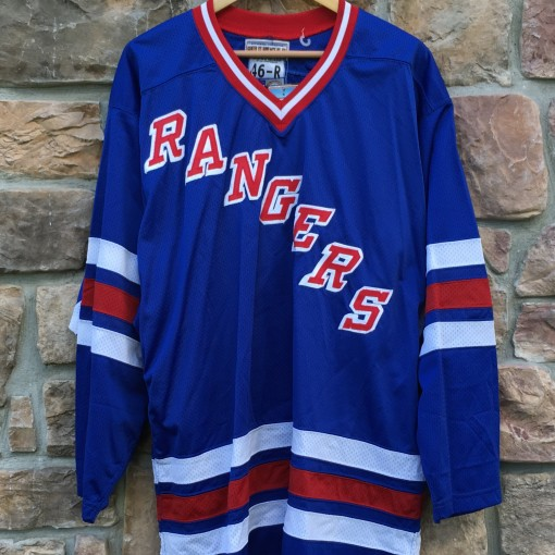blank vintage New York Rangers Starter NHL jersey size 46