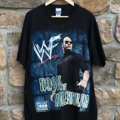 WWF The Rock Rock the Millennium vintage wwf wrestling t shirt