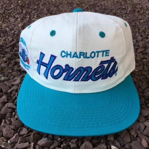 Vintage Charlotte Hornets Sports Specialties Script snaback hat