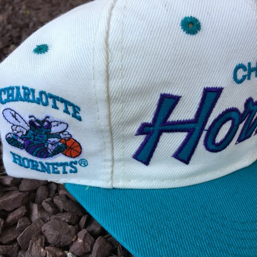 Vintage sports specialties script charlotte hornets snapback hat