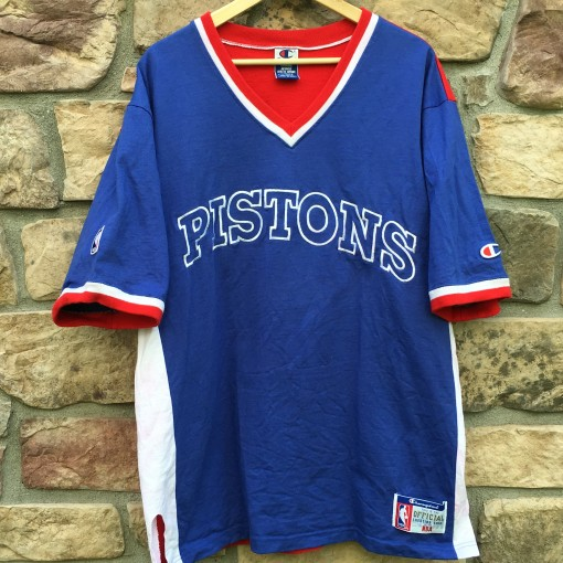 Vintage 90's Detroit Pistons NBA Champion Warm up top