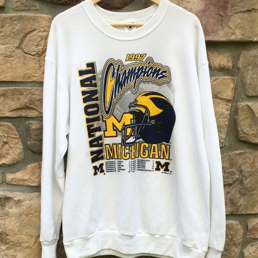 Michigan Wolverines 1997 NCAA national champions crewneck sweatshirt