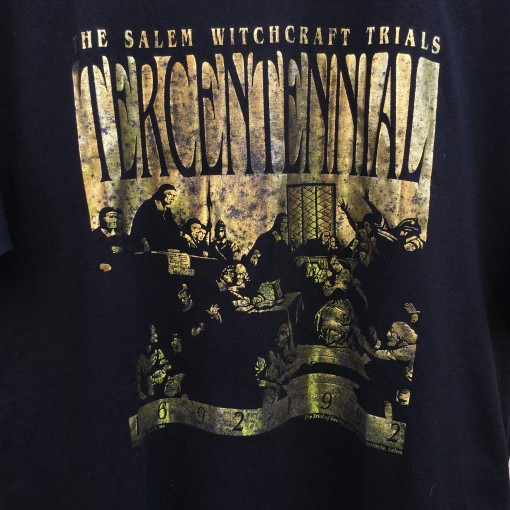 vintage 1992 Salem witchcraft trials t shirt