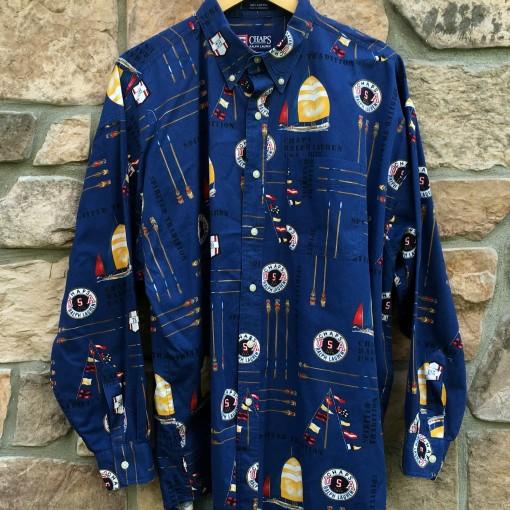 Vintage 90's Chaps Ralph Lauren Polo Sport Sailing oxford button up shirt