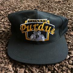 Vintage 90's Purdue Boilers NCAA snapback hat