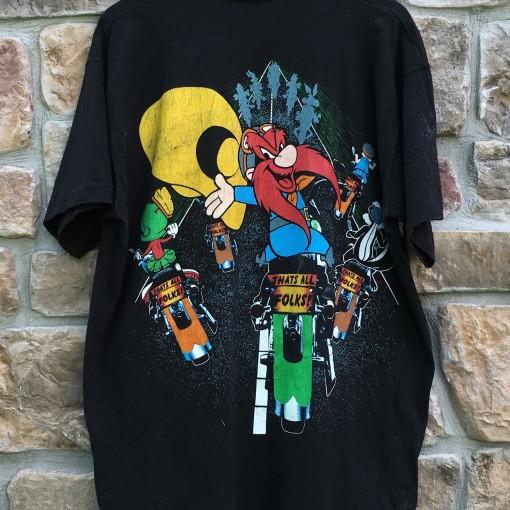Vintage 90's thats all folks looney tunes t shirt black