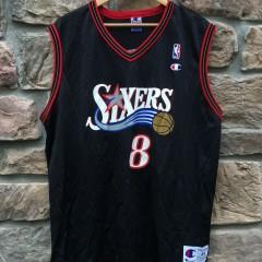 vintage Aaron Mckie Philadelphia sixers champion jersey size 44 large