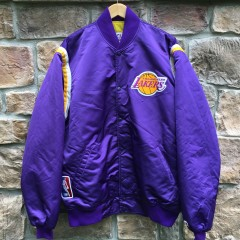 Los Angeles Lakers vintage satin starter jacket size xxl tall