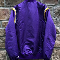 Lakers purple Starter satin jacket