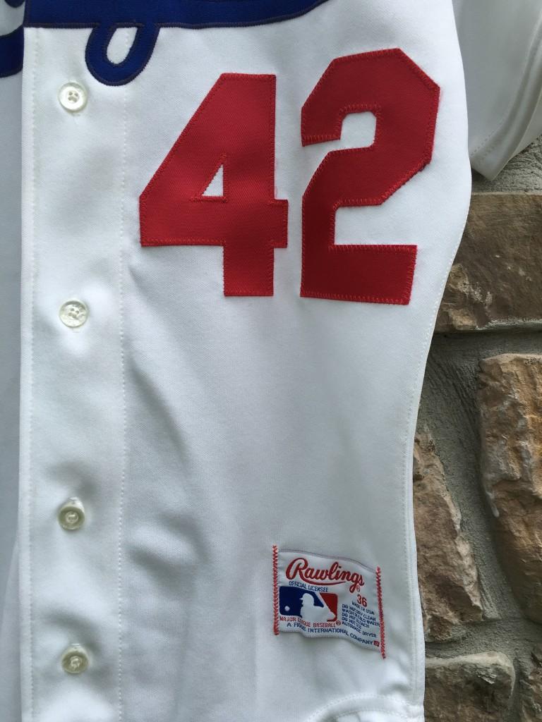 3a6db3436 Jackie Robinson Brooklyn Dodgers Rawlings MLB Jersey Size 36