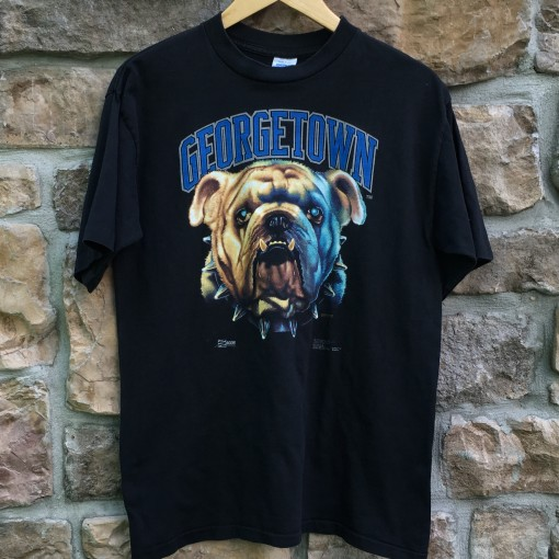 vintage 1991 georgetown hoyas intense mascots salem t shirt size large