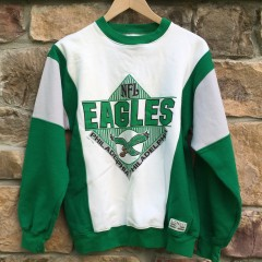 Vintage 1990 Kelly green philadelphia eagles Logo 7 NFL crew neck size small