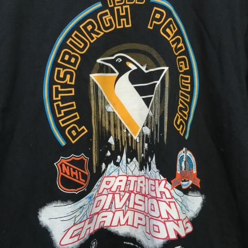 Vintage 1993 Pittsburgh Penguins Patrick division champions starter nhl t shirt large
