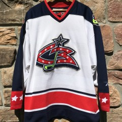 2000 Columbus blue jackets white jersey