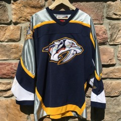 Vintage Nashville predators Pro player NHL jersey size large