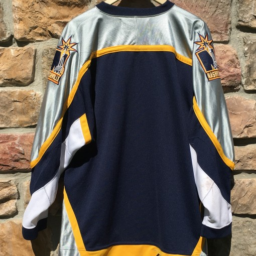 Navy blue nashville predators jersey