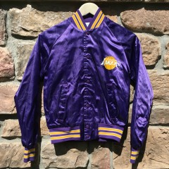Vintage 80's Los Angeles Lakers Chalkline NBA jacket