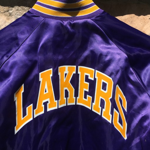 Los Angeles Lakers chalkline purple satin jacket