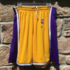 vintage authentic Los Angeles Lakers NBA shorts Nike size 38
