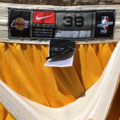 size 38 vintage LA Lakers Nike shorts