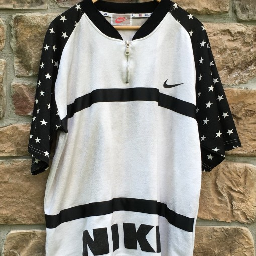 vintage 80's Nike Silver stars zip up shirt