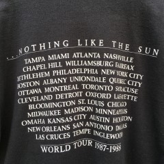 1987-88 Sting nothing like the sun t shirt