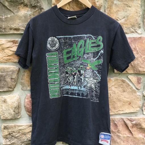 Vintage 1990 Philadelphia Eagles Salem Sportswear NFL t shirt