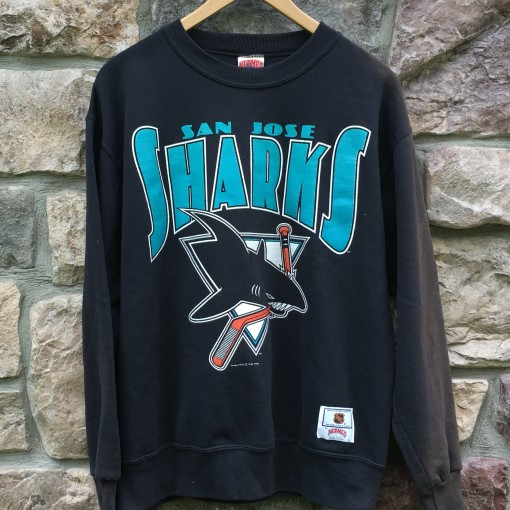 vintage 1991 San Jose Sharks NHL Crewneck