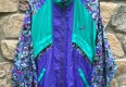 Vintage 90's Nike Floral paisley windbreaker aqua purple