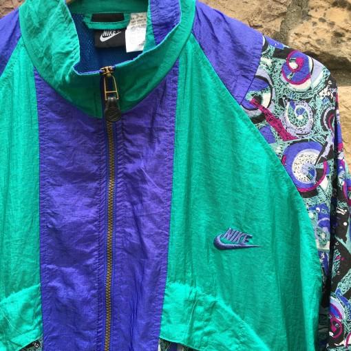 Vintage 90's Nike Paisley windbreaker jacket