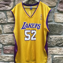 Vintage Samaki Walker Los Angeles Lakers Champion NBA jersey size 52