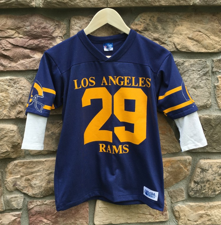 80 s Los Angeles Rams Eric Dickerson T Shirt Jersey Youth Large ... 81fc462cb