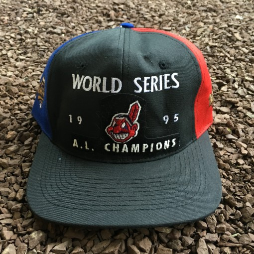 Vintage 1995 Cleveland Indians World Series Snapback hat
