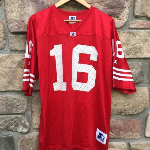 Vintage Joe Montana 49ers Starter NFL Jersey size large