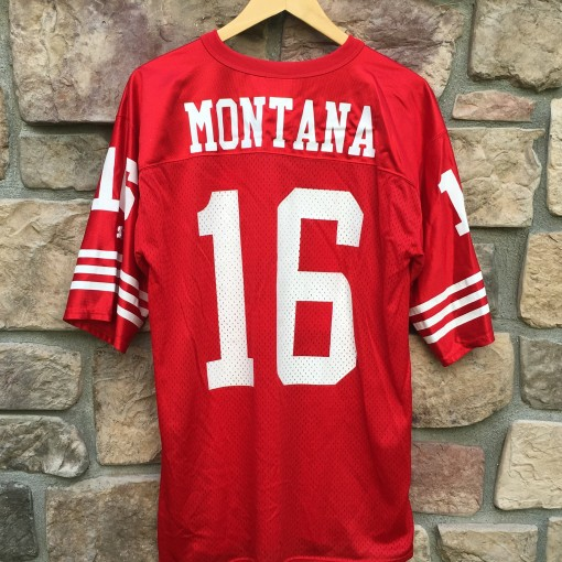 Throwback original Joe MOntana San Fran 49ers jersey