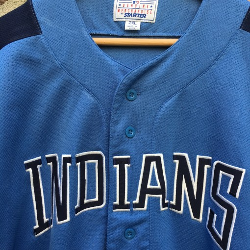 Vintage baby blue Cleveland Indians jersey