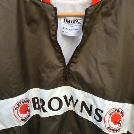 Vintage Cleveland Browns Delong NFL pullover windbreaker