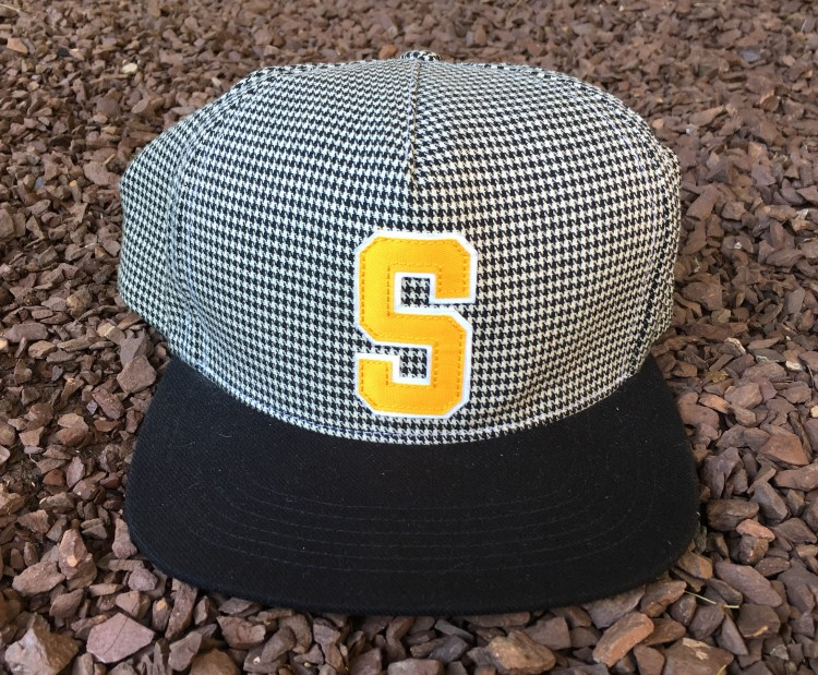 2012 Supreme Houndstooth Black Yellow 5 Panel Snapback hat  55b0389ea