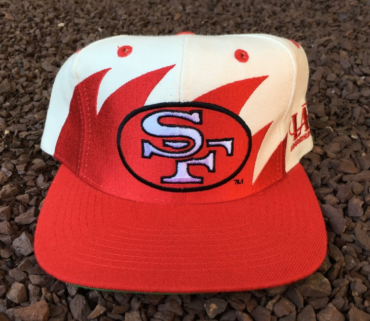 a3400534 90's San Francisco 49ers Logo Athletic Shark Tooth NFL Snapback Hat ...